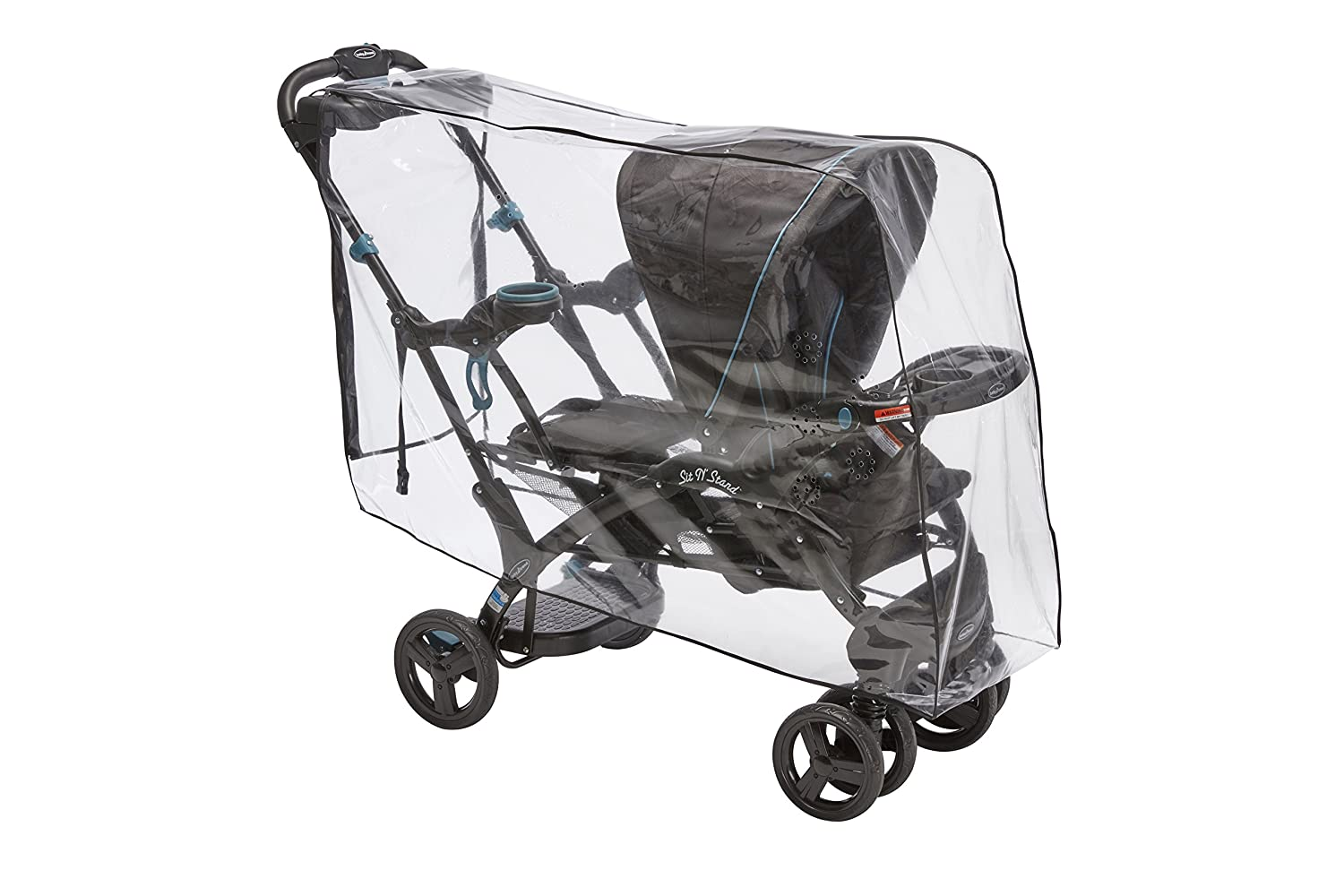 Sashas Premium Series Rain and Wind Cover for Baby Trend Sit N Stand Ultra Tandem Stroller