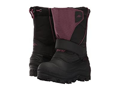 Tundra Boots Kids Quebec-Wide (Toddler/Little Kid/Big Kid) (Black/Marsala) Girls Shoes