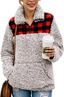 Best sherpa pullover buffalo plaid Reviews