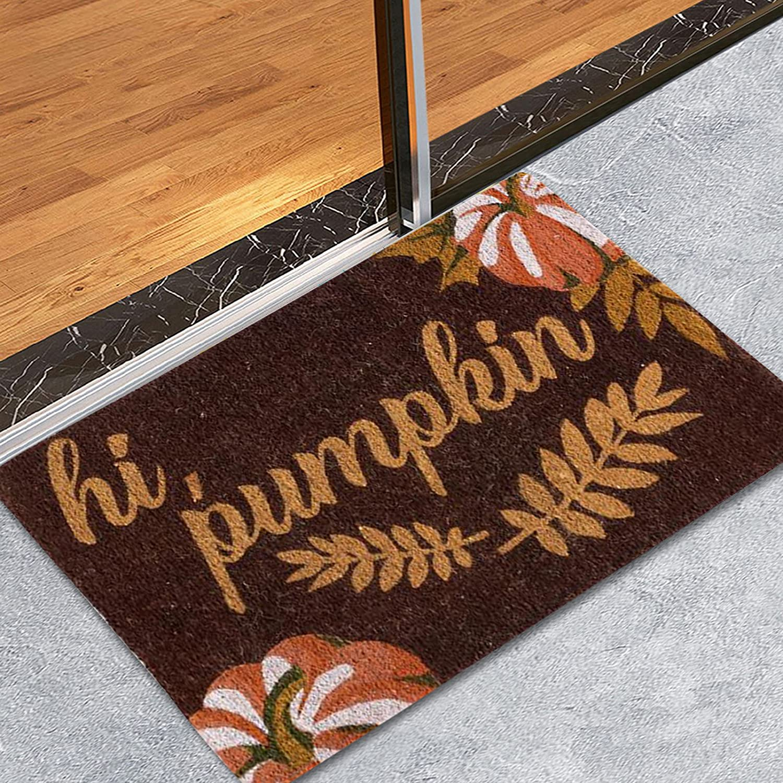 Halloween Doormat Blanket, Welcome Home Front Door Decorations Durable Washable Funny Halloween Decor Door Mat Anti-Slip Bottom Indoor Outdoor Carpet (H)