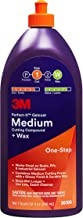 3M Perfect-It Gelcoat Medium Cutting Compound + Wax (36106) – For Boats and RVs - 1 Quart