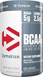 Dymatize BCAA Complex 5050 Powder, Promotes Muscle Regeneration, Time Released Aminos, UltraPure/Unflavored, 10.6 Oz