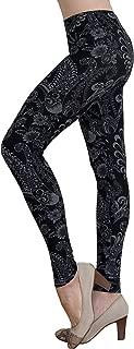 Women's Soft Stretch Leggings Regular/High Yoga Waist 20+ Designs One Size