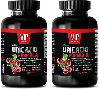 Bloating Pills - URIC Acid Formula Natural Extract 1430 Mg - Birch Leaves, Buchu Leaves, Goldenrod, Horsetail, Juniper Ber...
