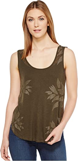 Lucky Brand - Metallic Leaf Tank Top