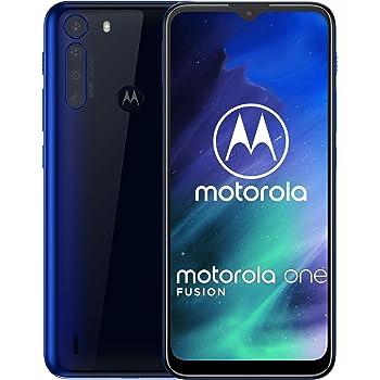motorola One Fusion 64 GB XT2073-2, 4 GB de RAM, cámara de 48 MP, Qualcomm Snapdragon 710 LTE Smartphone Desbloqueado de fábrica, versión Internacional (Azul océano)