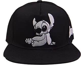Lilo and Stitch Cute Black and White Adjustable Baseball Cap Hat