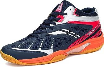 حذاء رياضي للرجال من Fashiontown Athletic أحذية تنس الريشة غير منزلقة للاستخدام في الأماكن المغلقة والمفتوحة، حذاء تدريب السلامة أزرق غامق