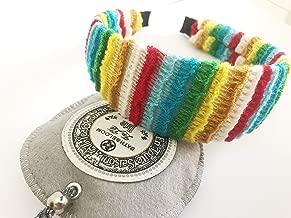 Women Kids Girls Rainbow Crochet big Headband : H34 (Rainbow)