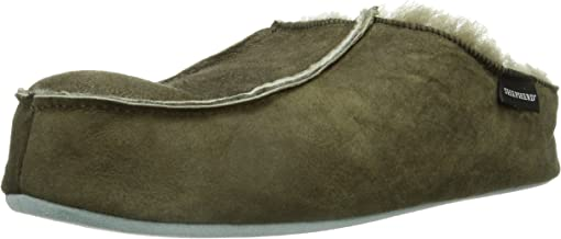 Shepherd of Sweden Mens' Birro Antique Stone Suede Slipper 46 Stone