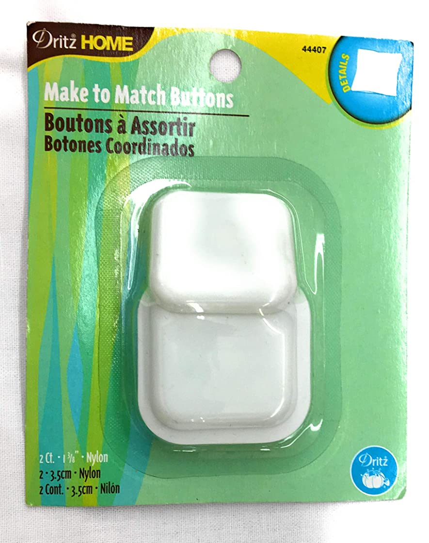 Driz Cover Button Kit with Tools, Square Size 1-3/8'' -Make to Match Buttons 2-Ct.