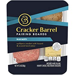 Cracker Barrel Pairing Boards Havarti Cheese Hard Salami & Multigrain Crackers (2.9 oz Tray)