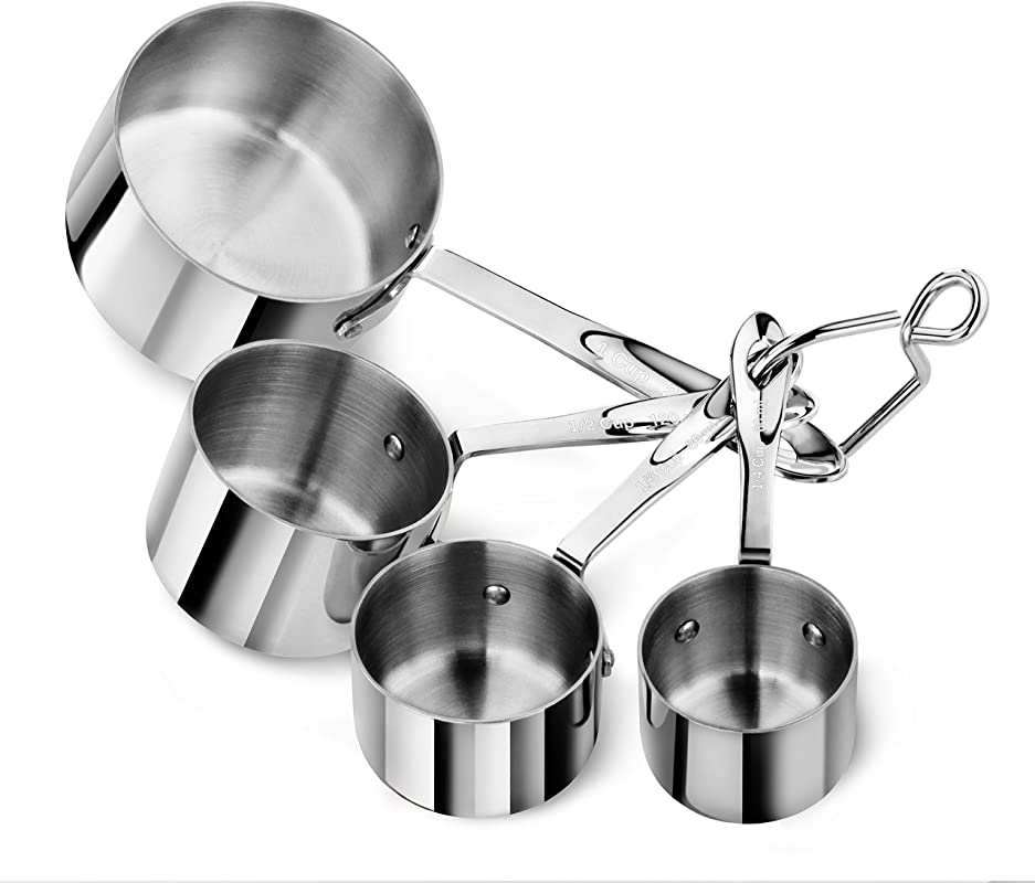 Artaste 43143 Stainless Steel 18 8 Measuring Cups Set Of 4 Silver