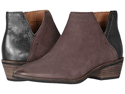 FRYE AND CO. Caden Bootie (Aubergine Vintage Leather/Antiqued Metallic Leather) Women