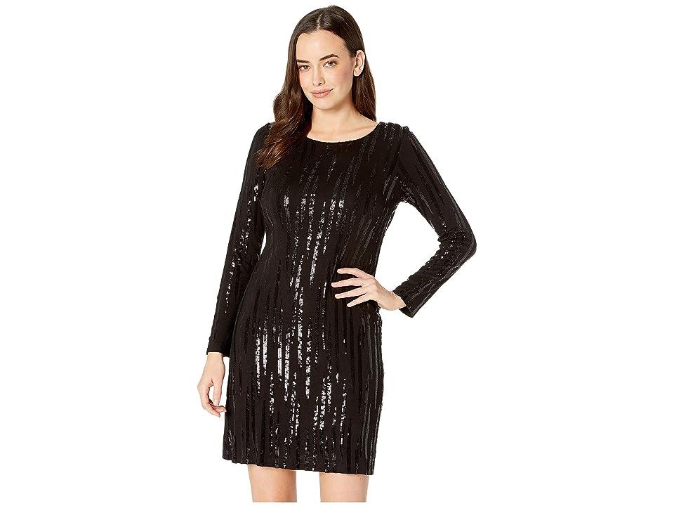 Karen Kane Sequin Sheath Dress (Black) Women