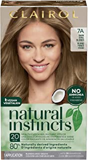 Clairol Natural Instincts Semi-Permanent, 7A Dark Cool Blonde, Sandalwood, 1 Count