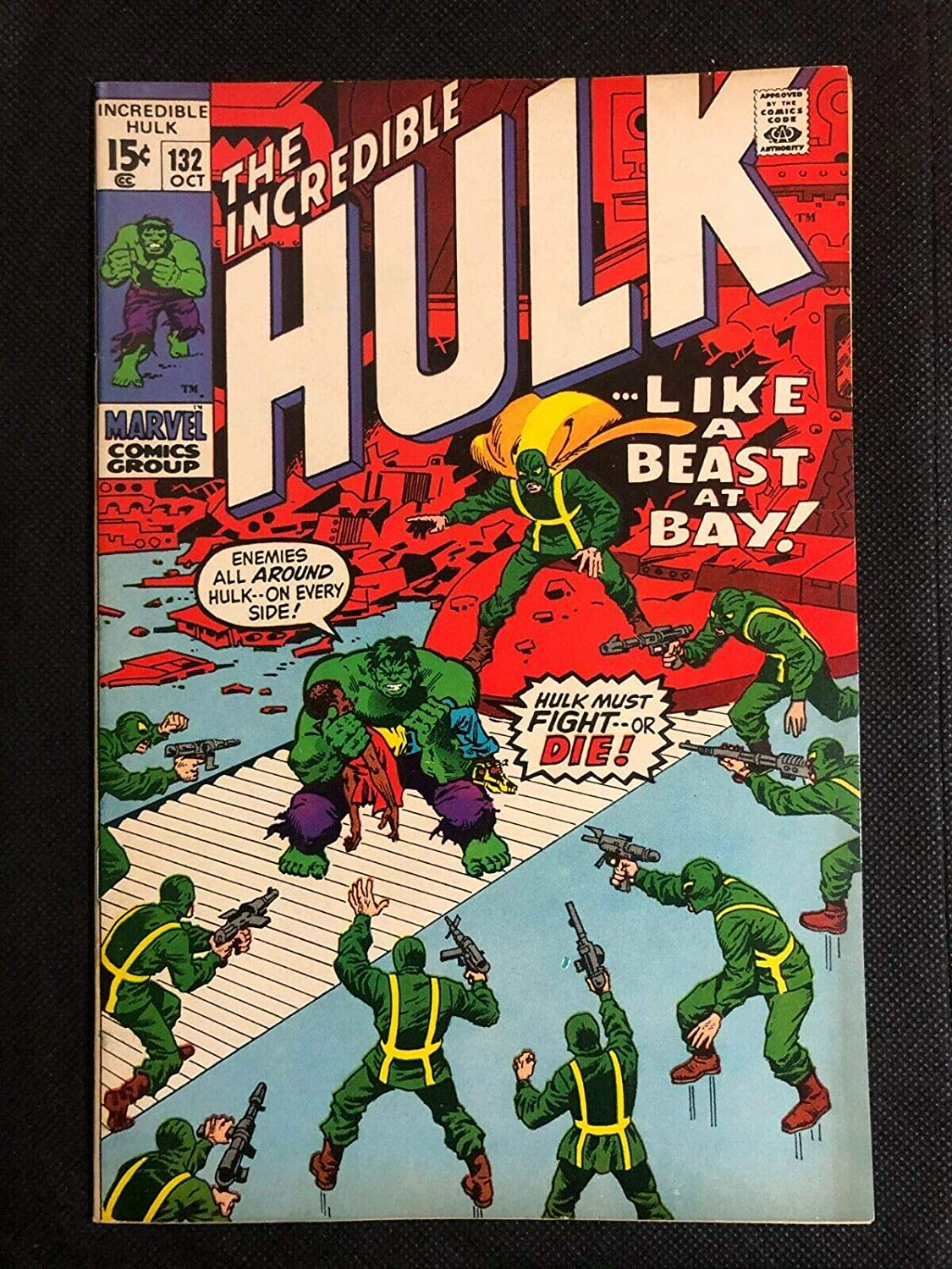 Incredible Hulk 1968 Max 51% OFF #132 VF Hydra 8.0 Trimpe In stock Herb