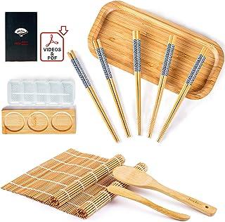 Bochee Sushi Set 14-tlg. Easy Sushi Maker Set und Teller Set