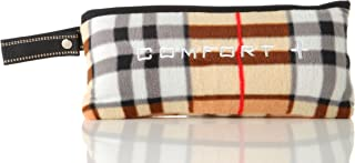 ComfortPlus 3-in-1 MicroFleece Premium Travel Blanket (Plaid)