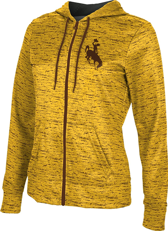 University of Wyoming Girls' Zipper Hoodie, School Spirit Sweatshirt (Brushed)