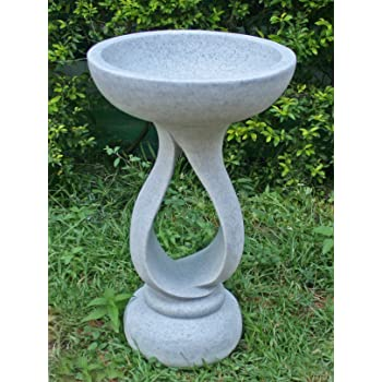 Statues /& Sculptures Online Buttermere Marble Resin Modern Garden Bird Bath