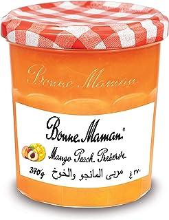 Bonne Maman Jam Mango Peach, 370 gm (Pack of 1)