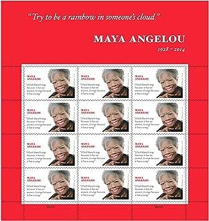 Maya Angelou Sheet of 12 Forever USPS Postage Stamps Scott 4979 By USPS