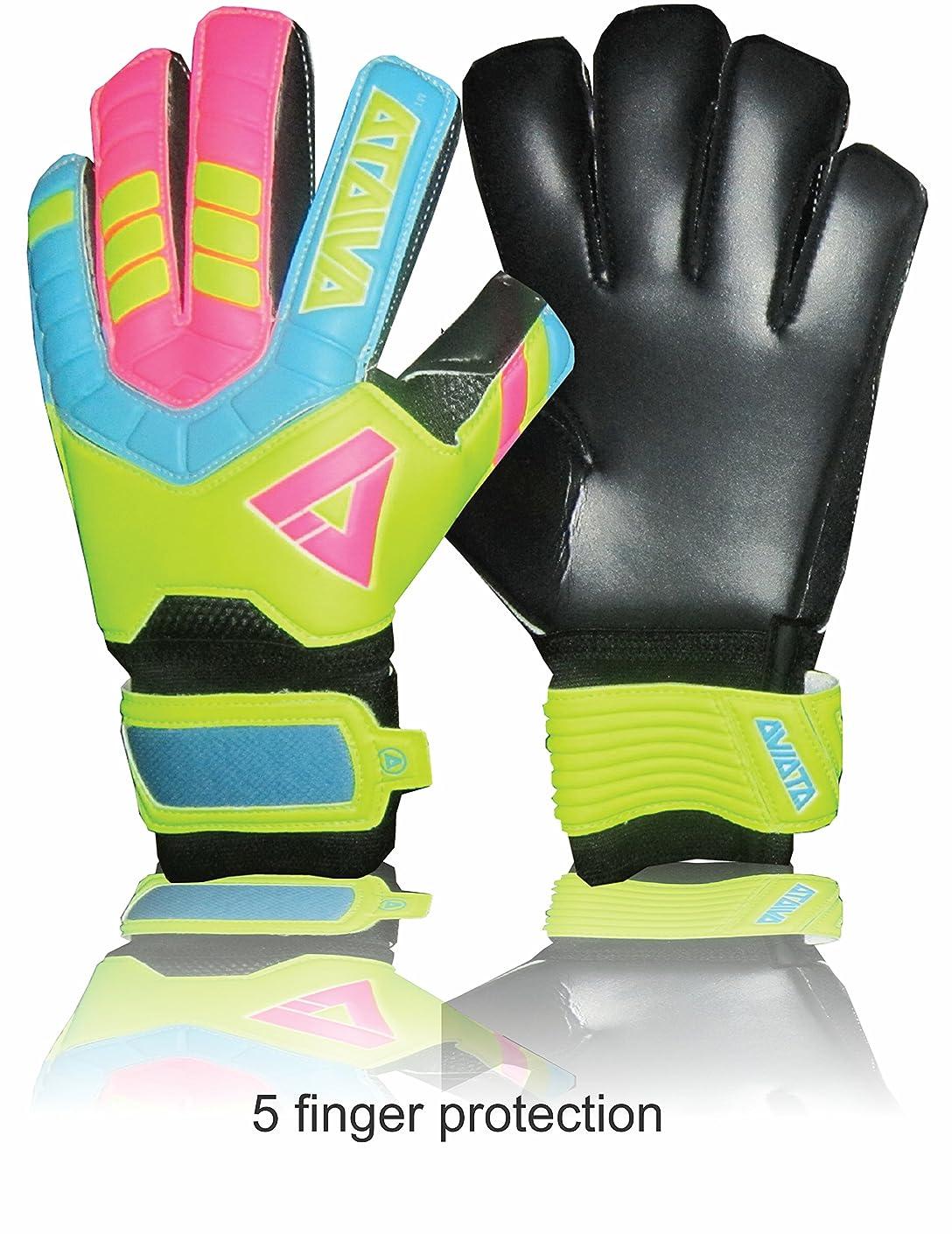 ファーザーファージュネコヒューマニスティックAviataライトクラブサッカー手袋( pink-yellowサイズ45指保存