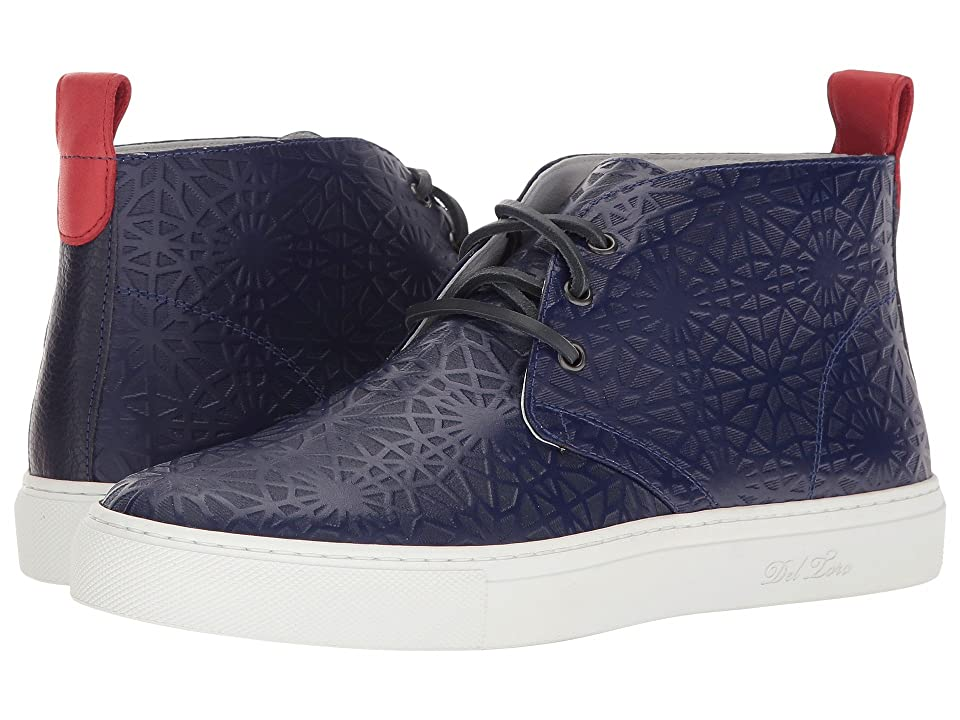 1c25328938608b Del Toro High Top Laser Cut Chukka Sneaker (Navy Geo) Men s Shoes