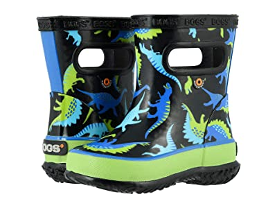 Bogs Kids Skipper Dino (Toddler/Little Kid) (Black Multi) Boys Shoes