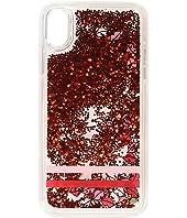 Kate Spade New York - Lips Liquid Glitter Phone Case for iPhone XS