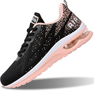 Womens Air Athletic Running Sneakers Fashion Breathable Sport Gym Walking Tennis Shoes (US5.5-10...