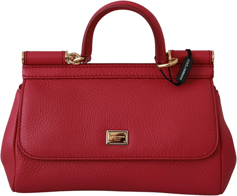 Dolce & gabbana sicilian bag, borsa a mano/tracolla da donna, 100% pelle VAS9198