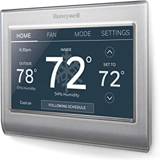 Honeywell RTH9585WF1004/W Wi-Fi Smart Color Programmable Thermostat Pack of 1 Grey