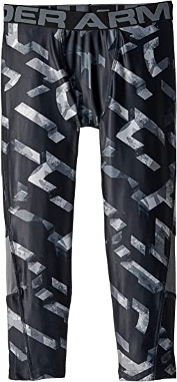 Armour HeatGear® 3/4 Printed Leggings (Big Kids)