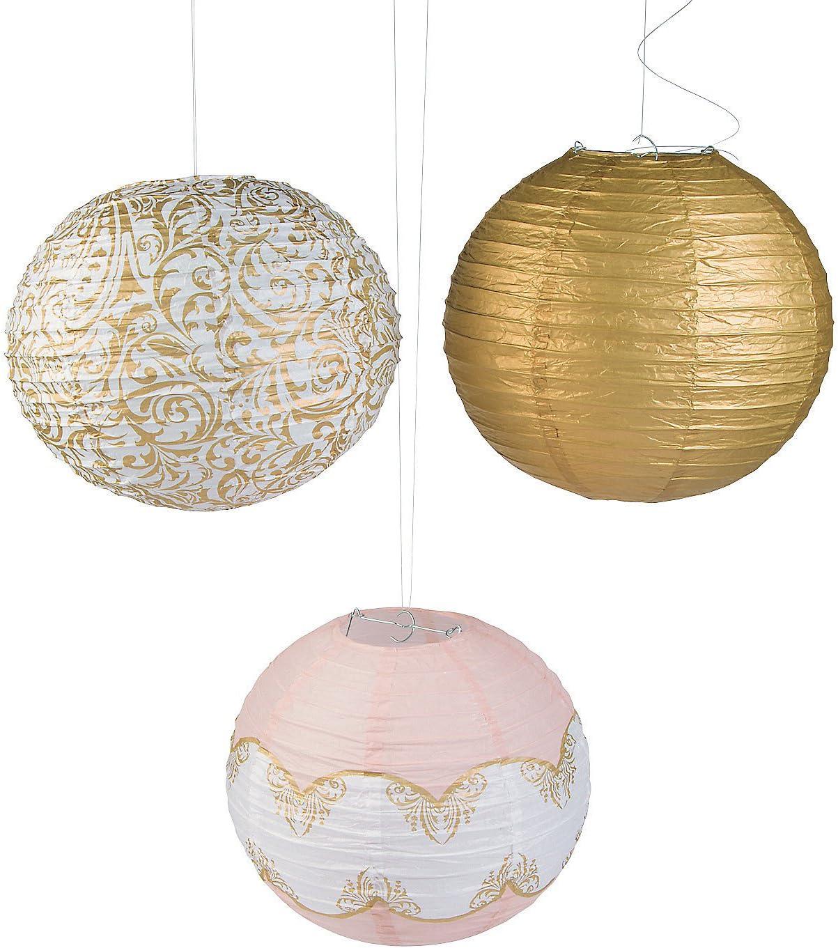 Fun Express - Fairytale Wedding Paper Lantern Set for Wedding - Party Decor - Hanging Decor - Lanterns - Wedding - 6 Pieces