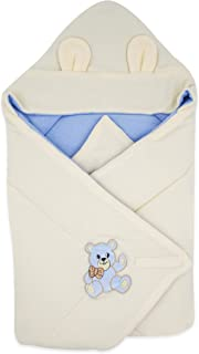 BlueberryShop Thermo Terry Hooded Baby Swaddle Wrap Bedding Blanket, Sleeping Bag for Newborns, Baby Shower, Intended for ...
