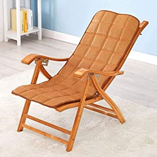 Sun Lounger Patio Reclining Chairs Loungers Camping Chairs Reclining Bamboo Bed Adjustable in 6 Positions Folding Deckchai...