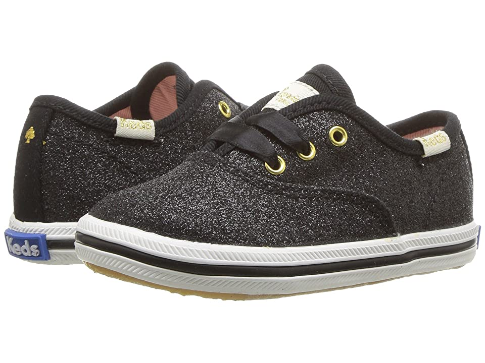 Keds x kate spade new york Kids Champion Glitter Crib (Infant/Toddler) (Black) Girl