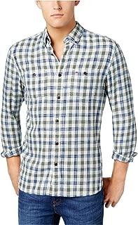 Tommy Hilfiger Mens Tony Plaid Button Up Shirt