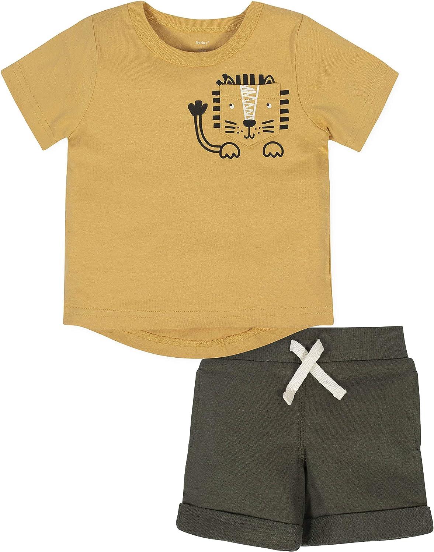 Gerber Baby Boys' 2-Piece Tee and Short Set
