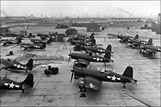 20x30 Poster; Naval Air Station Long Beach F4U-1 Corsair Fm-2 Wildcat 1945