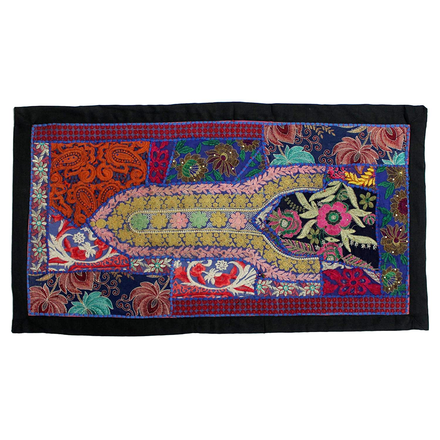 Vintage Embroidered Patchwork Traditional Room New sales Living Beautiful Classic