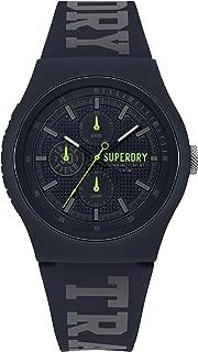 Superdry Urban Quartz Watch with Silicone Strap, Blue, 18 (Model: SYG188UU)