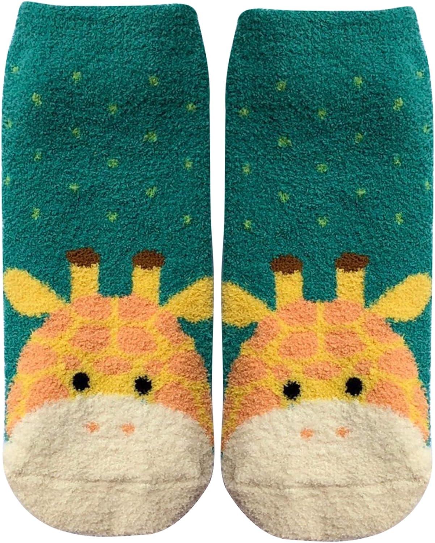 Littoe Women Boy Girl Slipper Socks Sleeping Socks Winter Warm Socks