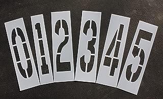 Parking Lot Pavement Stencils - 36 in - NUMBER KIT STENCIL SET - 1/16