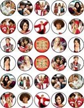 30 x Edible Cupcake Toppers – High School Musical Themed Collection of Edible Cake Decorations   Uncut Edible Prints on Wafer Sheet…