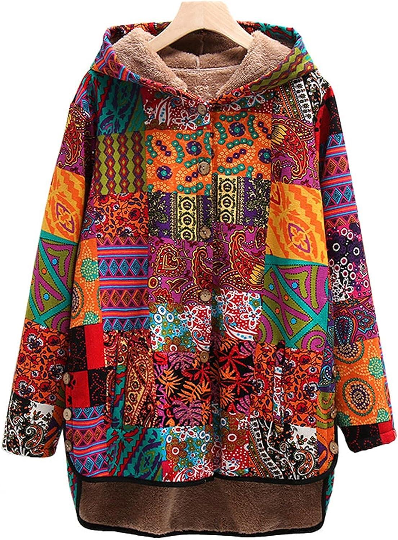 Women's Fleecec Lined cheap Hoodie Jacket Vintage Winter Recommendation F Long Sleeve