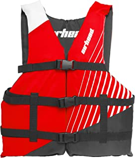 Airhead Ramp Childrens 50-90 Lb Boating Tubing Open Sided Red Life Vest Jacket Airhead Ramp Childrens 50-90 Lb Boating Tubing Open Sided Red Life Vest Jacket