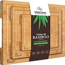 Bamboo Cutting Board, (3-Piece Set) Kitchen Chopping Board w